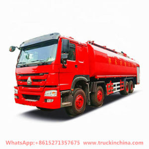 Sinotruk HOWO 12 Wheelers Water Bowser Fire Trucks 20000 -28000liters with Fire Pumper